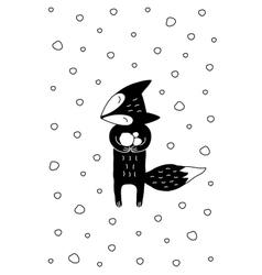 Cartoon Fox Winter vector image