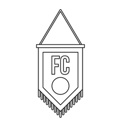 Soccer pennant icon outline style vector image