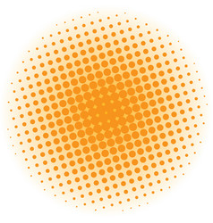 Abstract halftone design element orange pop art vector