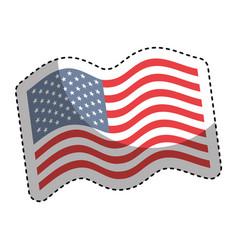 United states of america flag emblem vector