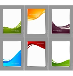 Set of wavy brochures vector