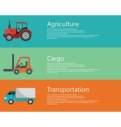 Modern creative flat design logistics and vector