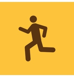 The man running icon run symbol flat vector