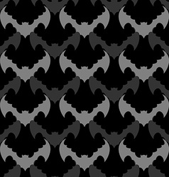 Bats seamless pattern background of flying animals vector