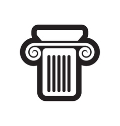 Flat icon in black and white style column vector