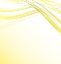 Yellow and white waves modern futuristic abstract vector