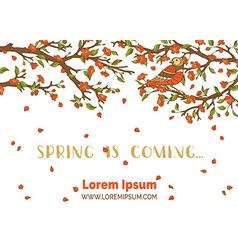 Spring is coming card vector
