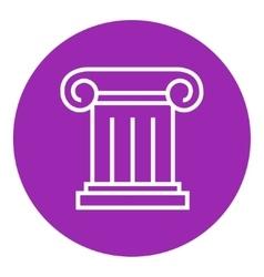 Ancient column line icon vector image vector image