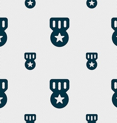 Award Medal of Honor icon sign Seamless pattern vector image