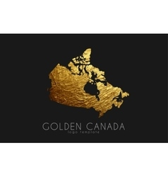 Canada map golden canada logo creative canada vector