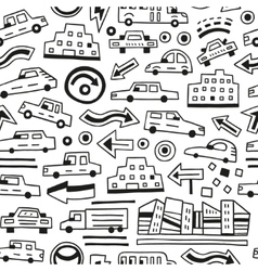 cars seamless background vector image vector image