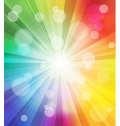Colorful light effect background vector image vector image