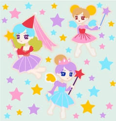 Cute fairy princess vector