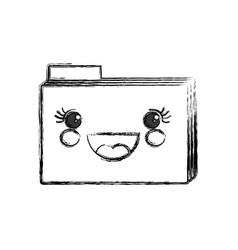 Cute folder kawaii vector