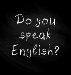 Do you speak english - poster vector