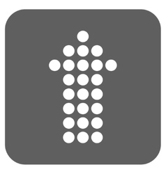 Dotted arrow up flat squared icon vector