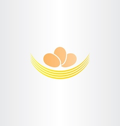 Eggs in nest logo icon sign vector