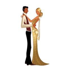 Elegant couple dancing vector image vector image