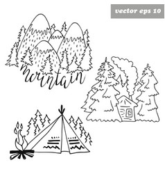 forest logos vector image vector image