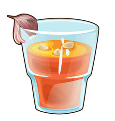 garlic vegetable healthy cocktail in glass cup vector image