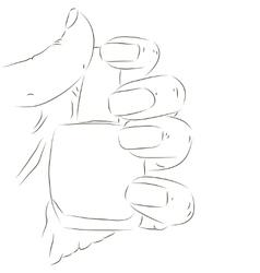 Hand with nail polish vector image