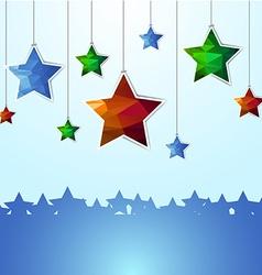 Hanging polygon stars vector