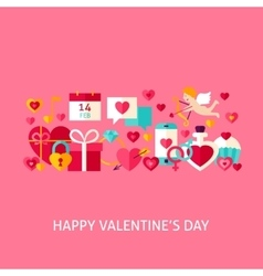 Happy Valentines Day Greeting Concept vector image