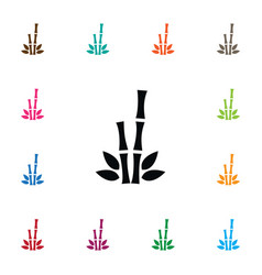 Isolated bamboo icon cane element can be vector