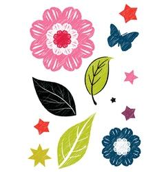 Leaf sketch vector image vector image