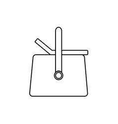 picnic basket icon vector image