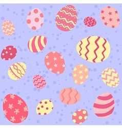 Pink easter egg seamless pattern vector