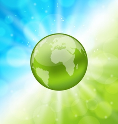 Planet earth on glowing abstract background vector