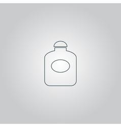 Retro perfume bottle flat vector image