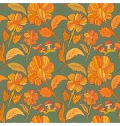 Seamless botanic printed pattern vector