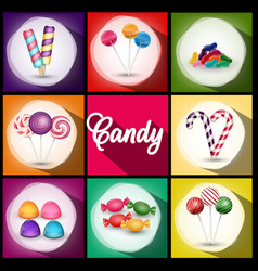 Set of brochures with sweets vector