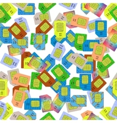 SIM Cards Seamless Pattern vector image vector image