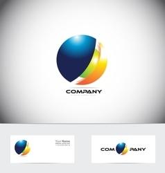 Sphere 3d logo icon design vector image vector image