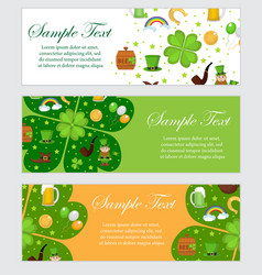St patrick s day banner template for your design vector