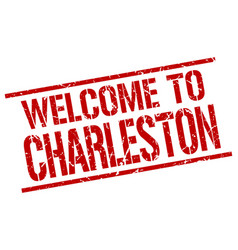 Welcome to charleston stamp vector
