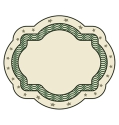 Dollar emblem seal isolated icon vector