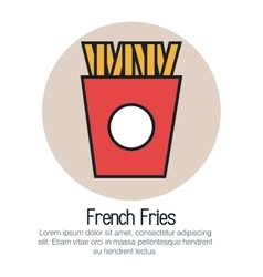 French frieds isolated icon vector