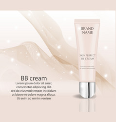 Realistic bb cream foundation design template for vector