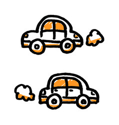 Doodle simple cars vector
