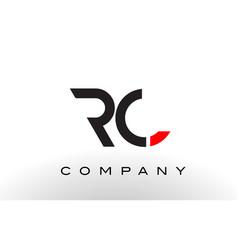 rc logo letter design vector image