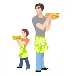 men and boy vector image
