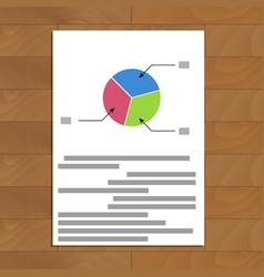 pie chart parts vector image