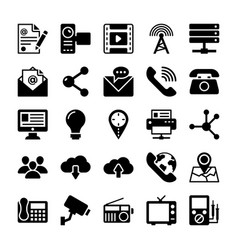 Network and communication icons 4 vector
