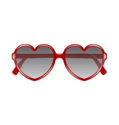 sun glasses in shape of heart vector image