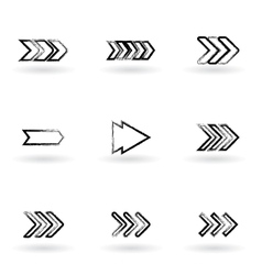 Drawing arrows vector
