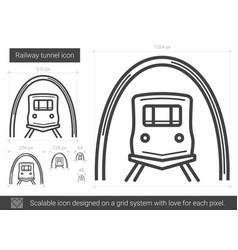 Railway tunnel line icon vector